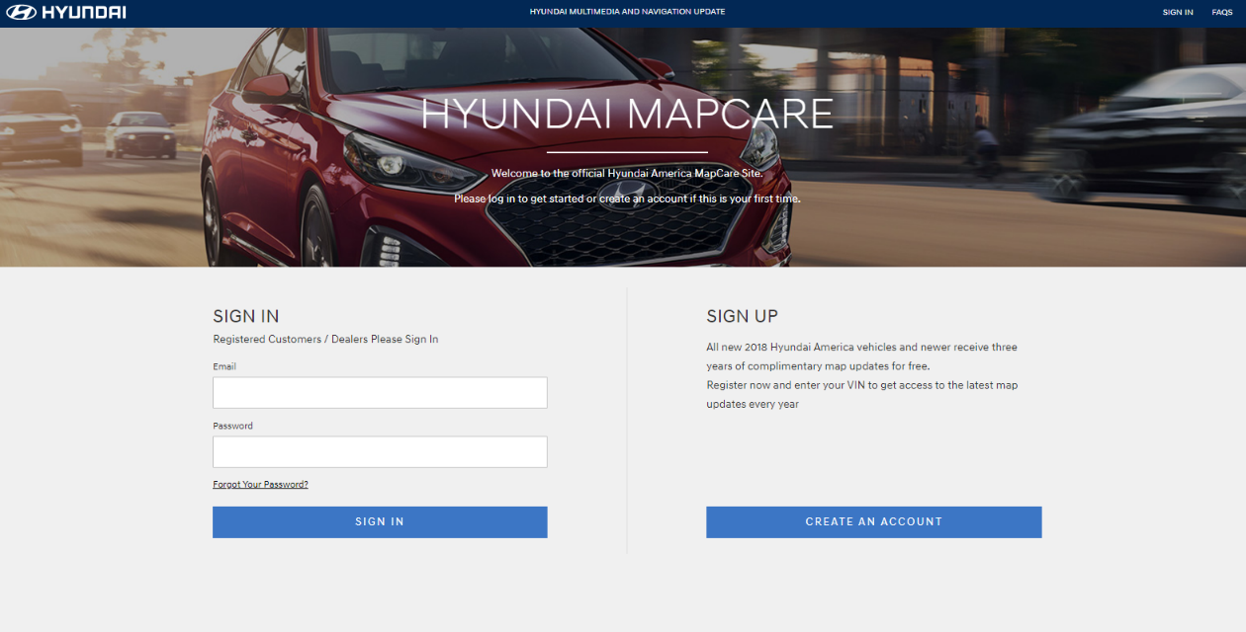 To Start Go Https Www Mapnsoft Hyundai Mapcare